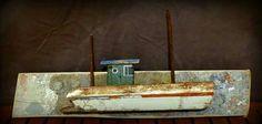 Bateau en bois flotté. Driftwood boat