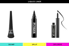 The Best Beautifiers For EVERY Budget #refinery29  http://www.refinery29.com/56660#slide21  Skimp: Maybelline EyeStudio Master Duo Glossy Liquid LinerProps to Maybelline for yet another makeup standout in the drugstore category. This dual-tipped liner allows you to create thick or thin lines with unerring precision, while the glossy finish and smudge-proof formula ensure your handiwork will stay in place as long as you need it to.Split: Ardency Inn Punker World's Baddest EyelinerOur makeup…