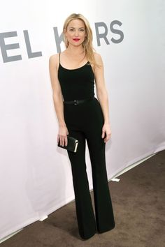 Kate Hudson in a Michael Kors jumpsuit at the Michael Kors Miranda Eyewear Collection launch party at Michael Kors on Feb. 18, 2015, in New York City.  -Cosmopolitan.com