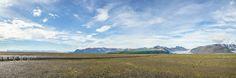 Skaftafell, Vatnajökull National Park - Iceland - Skaftafell, Vatnajökull National Park - View from Skeiðará bridge monument - Skeiðarársandur - Iceland