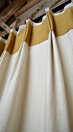 Double Pleat Heading With Banidng - contemporary - curtains - los angeles - Draperies By Walter
