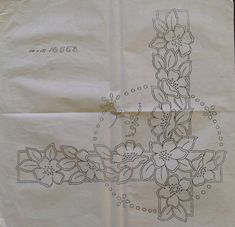 Cutwork Embroidery, Embroidery Patterns, Pencil Design, Cut Work, Angles, Bouquets, Needlework, Corner, Sketches