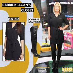 Dress: Express Zip Pocket Portofino Shirt Dress - $88 Similar Boot: Chinese Laundry Platform Over The Knee Boots - $275