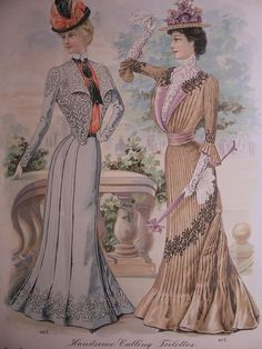 VICTORIAN FASHIONS /1900s Butterick Pattern Advertisement Gowns Victorian Dresses Edwardian Costumes Vintage Fashions.