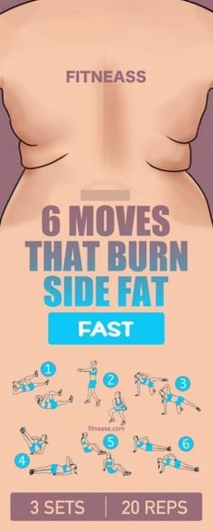 """GONE In 13 Days With This Strange """"Carb-Pairing"""" Trick 6 moves that burn side fat fast.c… 6 moves that burn side fat fast. Fitness Workouts, Best Core Workouts, Ab Workouts, Fitness Diet, At Home Workouts, Fitness Motivation, Health Fitness, Yoga Fitness, Food Workout"""