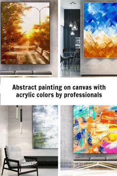 Handmade painting by professionals 🎨🎨 Large Wall Canvas, Canvas Wall Art, Kids Room Paint, Oversized Wall Art, Abstract Canvas Art, Large Painting, Acrylic Colors, Texture Art, Landscape Paintings