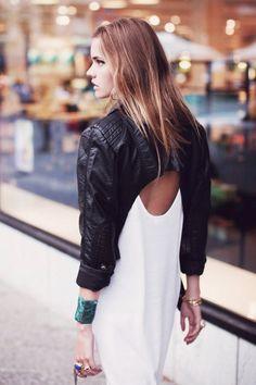 'c'est la mode' Sophia by Daniel Troyse Black Women Fashion, High Fashion, Fashion Beauty, Fashion Looks, Womens Fashion, Estilo Blogger, Cooler Stil, Estilo Cool, Cropped Leather Jacket