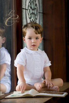 Could he be any cuter? And little boys can wear lace too!