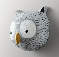 Paper Mache Animals, Paper Mache Animal Heads, Paper Mache Sculpture, Garden Sculpture, 8th Grade Art, Paper Owls, Paper Engineering, Arts And Crafts, Paper Crafts