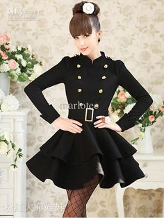 Top Sexy Elegant Women Coat Mandarin Collar Double Wool & Blends | Buy Wholesale On Line Direct from China