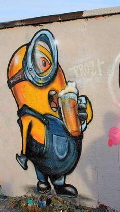 Minion Graffiti Munich Dozey Style Foto von Dozey