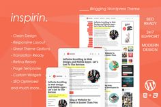 Inspirin : Blogging Wordpress Theme by FameThemes on Creative Market
