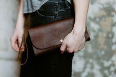 Hustle & Hide Co // zipper wallet clutch
