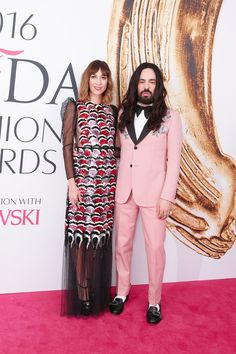 Gia Coppola and Alessandro Michele, both in Gucci.