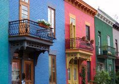 Fachadas de casas coloridas 3