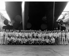Decommissioning crew B-Division Us New Jersey BB-62.