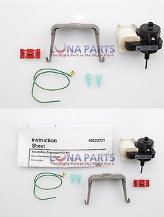 Parts and Accessories 71259: Genuine Oem 12002225 Whirlpool Kenmore Refrigerator Evaporator Fan Motor Kit -> BUY IT NOW ONLY: $51.05 on eBay!