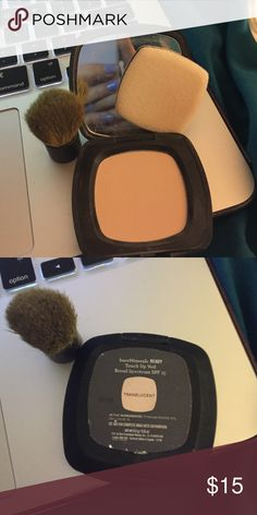 BareMinerals translucent touch up viel with kabuki Mini translucent powder with mini kabuki, spf 15 bareMinerals Makeup Face Powder