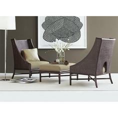 Barbara Barry Lounge Chair and Ottoman