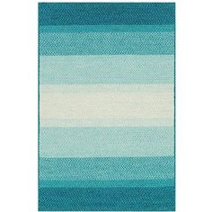 Zadie Coastal Beach Stripe Blue Aqua Outdoor Rug Sample ($40) ❤ liked on Polyvore featuring home, outdoors, outdoor decor, striped outdoor rug, outdoor rugs, outdoor braided rugs, outdoor patio rugs and blue outdoor rug