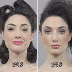 L'évolution de la beauté féminine en 100 ans! - Marie Claire