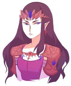 zelda w her hair down