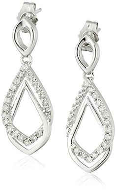 10k Gold Diamond Earrings (1/4 cttw H-I Color I2-I3 Clarity)