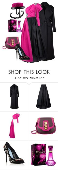 """""""pink&black"""" by miha-jez ❤ liked on Polyvore featuring Dries Van Noten, MaxMara, Moschino, Louis Vuitton, Lanvin, Chanel and Neda Tahniat"""