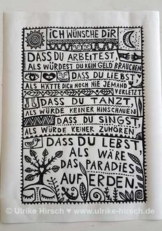 "Linocut print ""Irish blessing"" (black on white) ⋆ Ulrike Hirsch, Irish Blessing, Art Base, Art Background, Linocut Prints, Some Words, Love Life, Success Quotes, Initials, Favors"