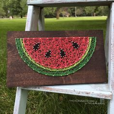 MADE TO ORDER String Art Watermelon Sign by TheHonakerHomeMaker on Etsy // baby // nursery // art // DIY
