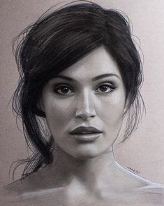 89 Truly Awesome Celebrity Drawings - Page 27 of 88 - tracesofmybody . Pencil Portrait Drawing, Realistic Pencil Drawings, Portrait Sketches, Pencil Art Drawings, Portrait Illustration, Art Drawings Sketches, Simple Drawings, Female Portrait, Portrait Art