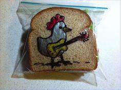 David Laferriere: le papa qui dessine sur les sacs à sandwich