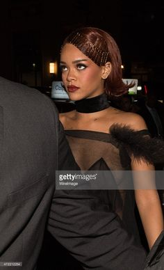 Beauty hair Rihanna arrives at Rihanna's Private Met Gala After Party at Up