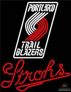 Strohs Portland Trail Blazers Neon Sign NBA Teams Neon Light