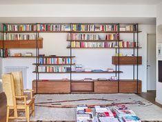 Library Bookshelves, Bookshelves In Living Room, Bookcases, Mid Century Wall Unit, Library Cabinet, Bookshelf Inspiration, Vintage Furniture, Decoration, Room Decor