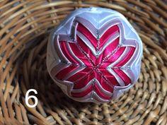 Dekorácie - vianočné patchworkové gule staroružová v kombinácii s bielou a pink - 7147207_