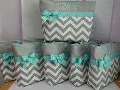 NEW ....CHEVRON Tote Bag.. ..You Pick Color Options  ..BRIDESMAID Bags ...  Monogrammed  FReE