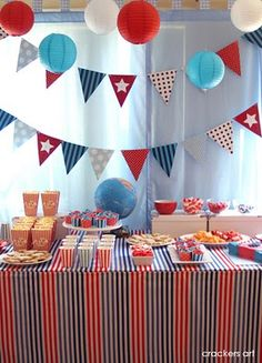 Throw a Clipper viewing party with this cute red, white and blue decor!