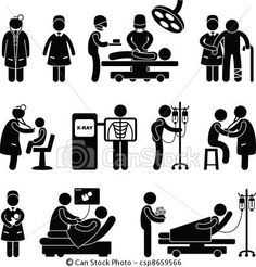 Vector - Doctor Nurse Surgery Hospital - stock illustration, royalty free illustrations, stock clip art icon, stock clipart icons, logo, line art, EPS picture, pictures, graphic, graphics, drawing, drawings, vector image, artwork, EPS vector art