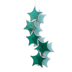 Teal Stained Glass Suncatcher Teal Star by RavensStainedGlass, £16.00