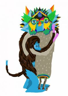 illustration by OVE Pictures, duo of illustrators and animators represented by OWL Illustration agency www.owlillustration.com Owl Illustration, Create Animation, Motion Design, Illustrators, Hug, This Is Us, Lion Sculpture, Creatures, Concept