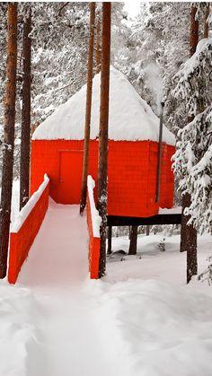 The Blue Cone, Tree Hotel Swedish Lapland.