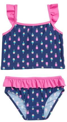 81b2093114 Sol Swim Neon Popsicles Two-Piece Tankini Swimsuit (Toddler Girls & Little  Girls) | Nordstrom