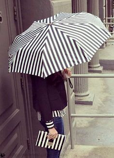 Stripes in street style.