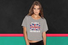 IF I HAD A BRITISH ACCENT I WOULD NEVER SHUT UP boxy tee