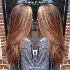 Full head of beautiful balayage highlights to brighten this brunette up for summer ---color