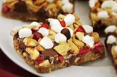 Ocean Spray Cranberry Cashew Cookie Bar. Try this recipe now: http://www.oceanspray.com/Recipes/Corporate/Desserts---Snacks/Cranberry-Cashew-Cookie-Bar.aspx?courses=DessertsSnacks  (not rated yet)