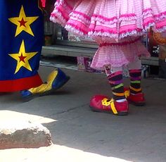 street- clowns in mexico df by Maja Cosca
