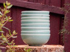 Copper glazed custom made Set of Bowls (16cm x 6.5cm)   Dianne Collins, Melbourne