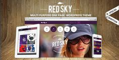 Red Sky - One Page Creative Theme . Red has features such as High Resolution: No, Widget Ready: Yes, Compatible Browsers: IE8, IE9, IE10, Firefox, Safari, Opera, Chrome, Compatible With: WPML, Software Version: WordPress 4.4.2, Columns: 4+
